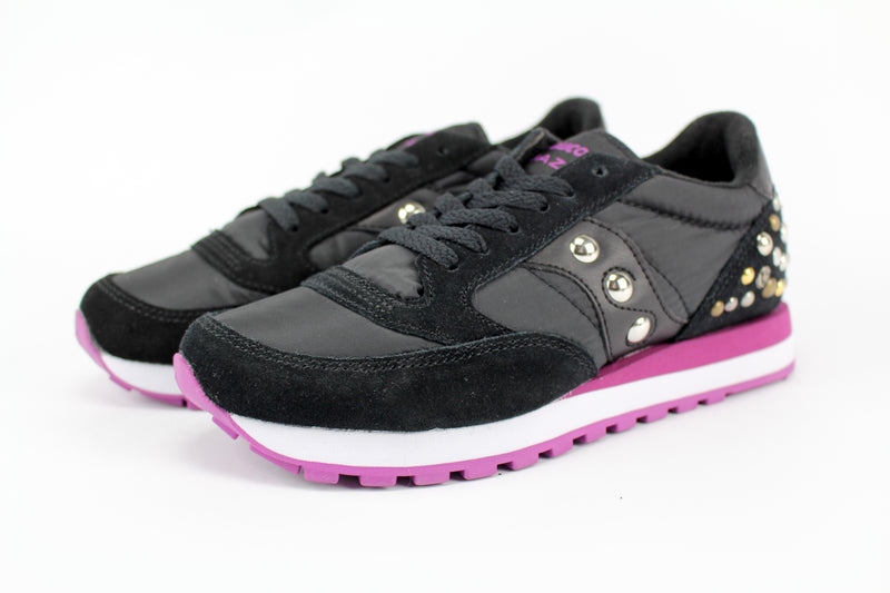 Saucony Jazz Black/Fucsia Borchie