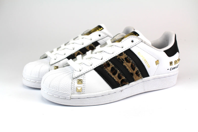 Adidas Superstar Personalizzate Maculate Borchie & Graffiti
