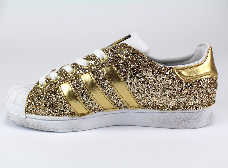 Adidas Superstar Personalizzate Total Gold