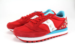 Saucony Jazz Red/White Personalizzate Borchie