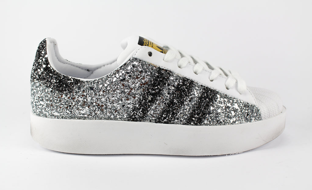 Adidas Superstar Bold Personalizzate Total Glitter