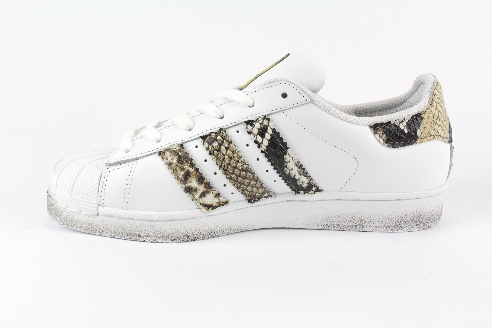 adidas superstar pitonate bianche