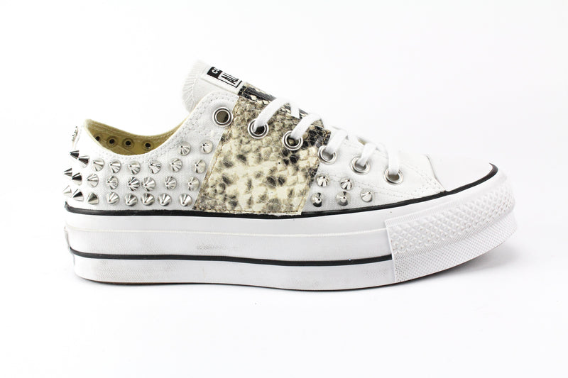 Converse All Star Platform Borchie & Pitone