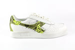 Diadora B.Elite Pitone Yellow Fluo & Borchie