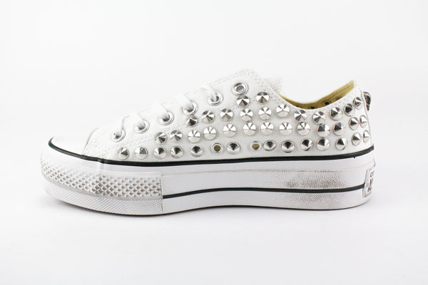 Converse All Star Platform White Total Borchie