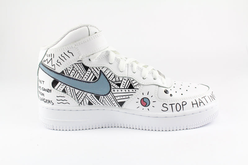 Nike Air Force 1 Mid '07 Personalizzate Eye & Sword