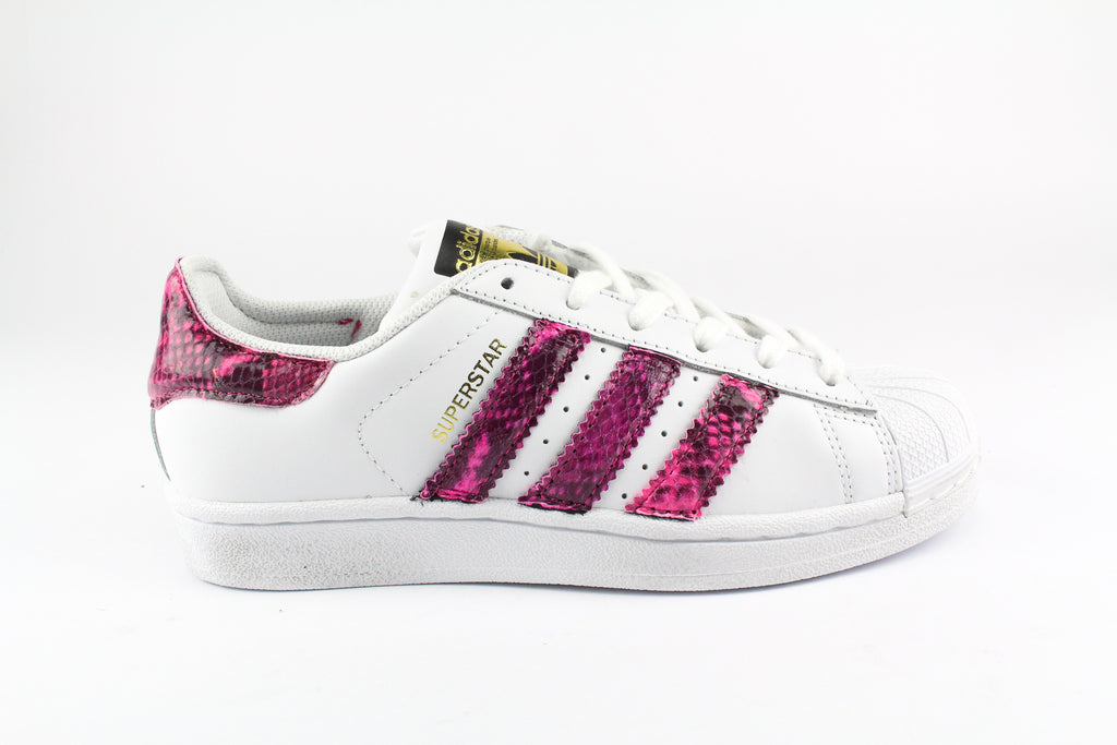 Adidas Superstar Personalizzate Pitone Fluo