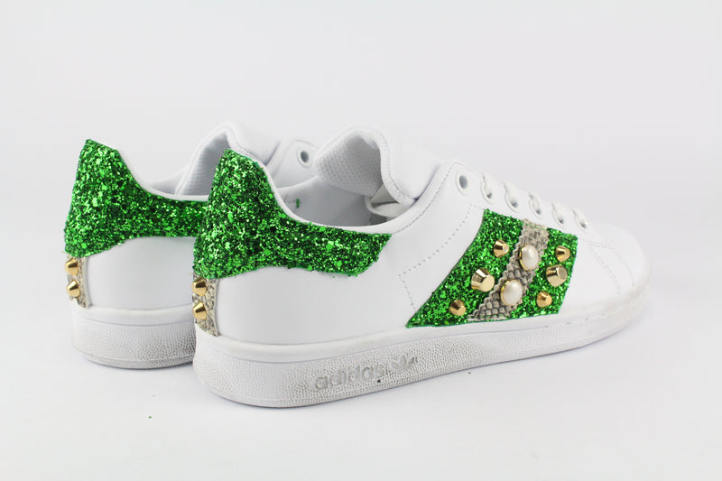 Adidas Stan Smith Bande Glitter Borchie & Pitone