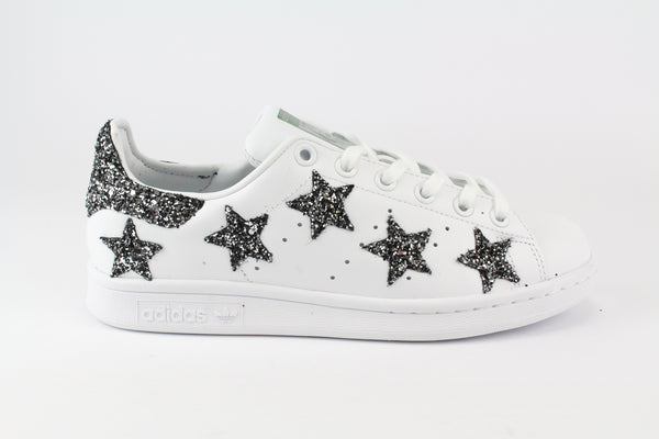 Adidas Stan Smith Personalizzate Stelle Black Silver