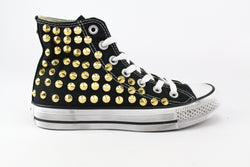 Converse All star Black Total Borchie Gold