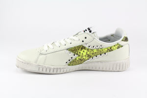Diadora Game L Low Waxed Pitone Yellow Fluo & Borchie