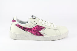 Diadora Game L Low Waxed Pitone Pink Fluo & Borchie