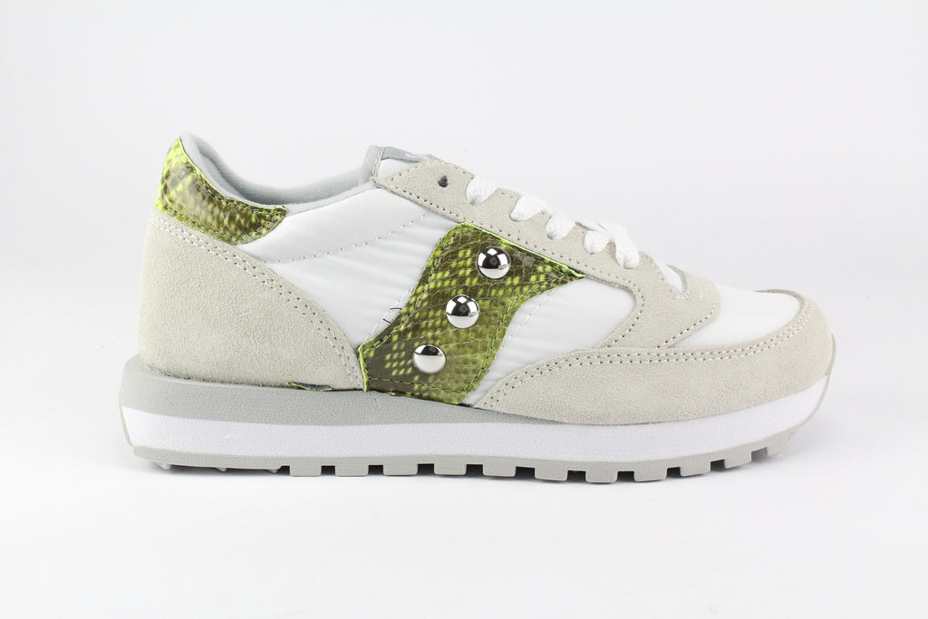 Saucony Jazz White Personalizzate Pitone Yellow Fluo