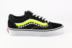 Vans Old Skool Personalizzate Yellow Fluo & Borchie