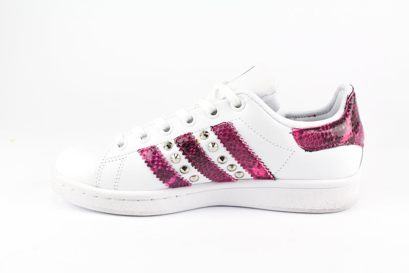 Adidas Stan Smith Pitone Pink Fluo & Borchie
