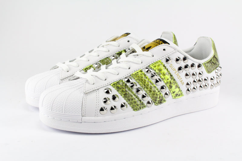 Adidas Superstar Total Borchie & Pitone Yellow Fluo