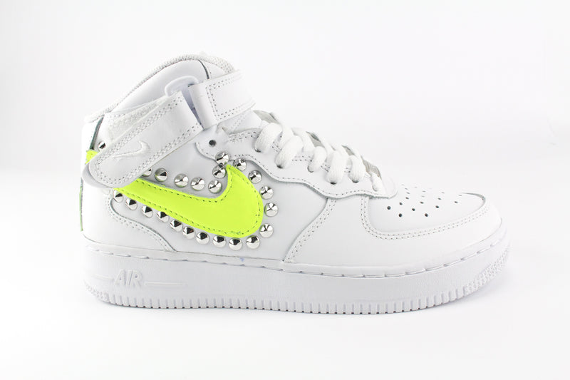Nike Air Force 1 '07 Mid Yellow Fluo & Borchie