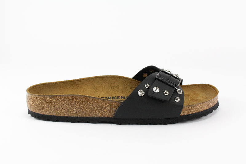 Birkenstock Madrid Black Strass & Borchie