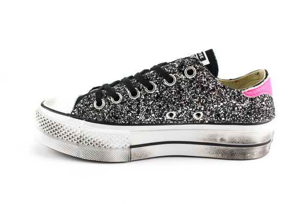 Converse All Star Platform Total Glitter & Fluo