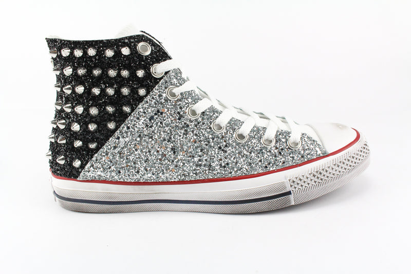 Converse All Star Bicolor Glitter & Borchie
