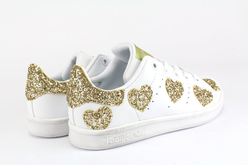Adidas Stan Smith Cuori Gold Glitter