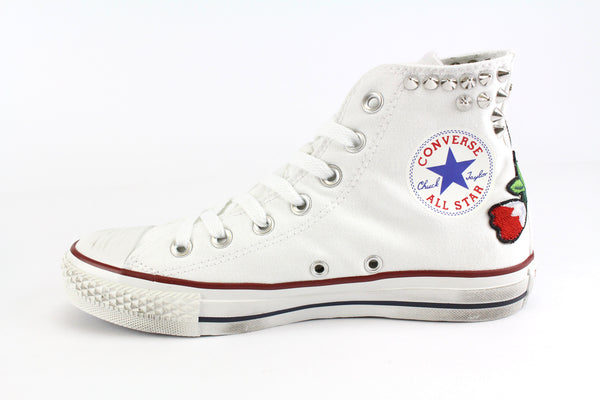 Converse All Star White Ricami & Borchie