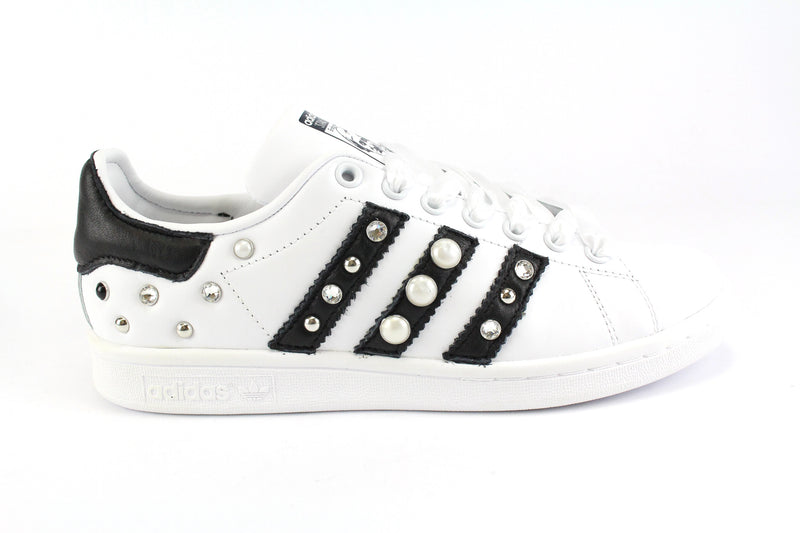 Adidas Stan Smith Strass Perle & Lacci Raso