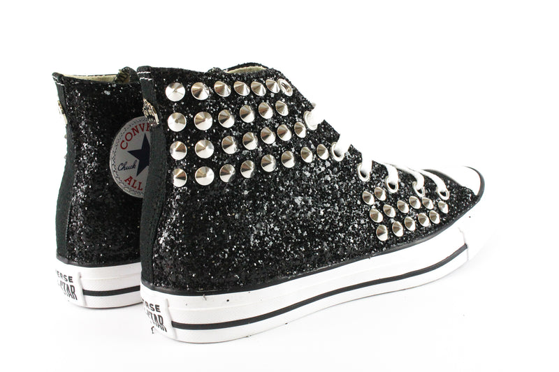 Converse All Star Black Glitter & Borchie