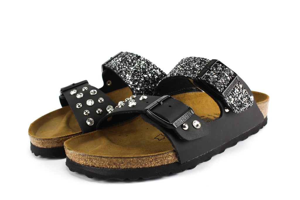 Birkenstock Arizona Black Strass Borchie & Glitter