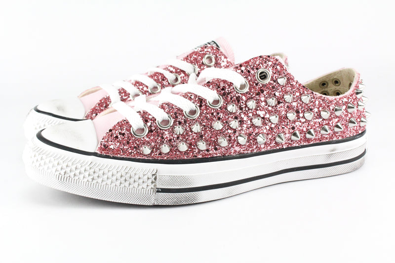 Converse All Star Pink Glitter & Borchie