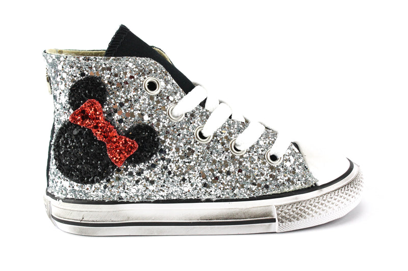 Converse All Star Black Topolino Glitter
