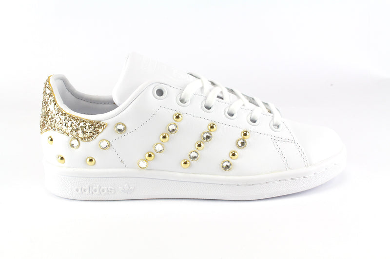 Adidas Stan Smith Strass Gold Glitter & Borchie