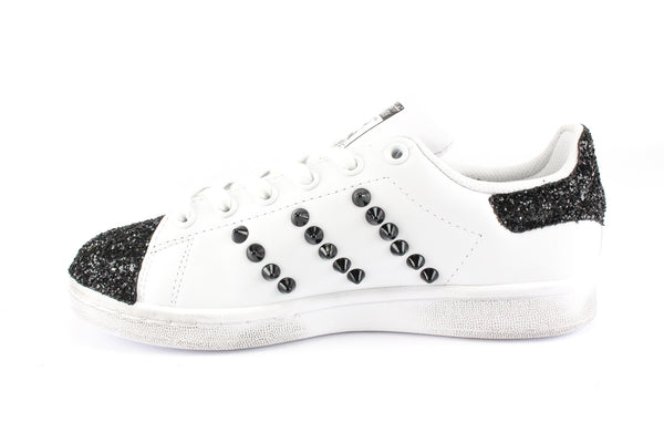 Adidas Stan Smith Punta Glitter & Borchie Black