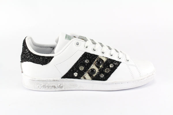 Adidas Stan Smith Cavallino Zebrato Black Glitter & Borchie