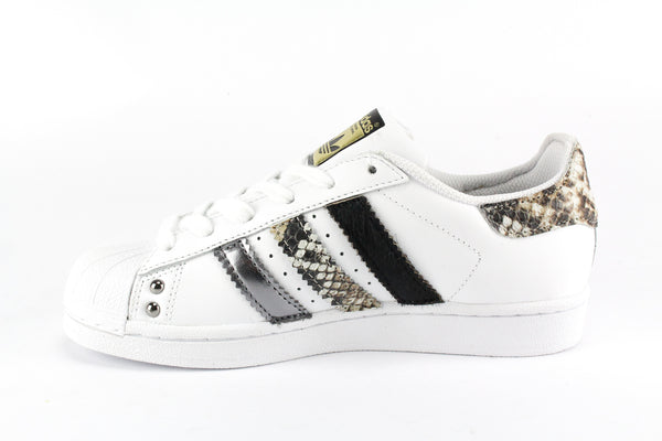 Adidas Superstar Pitonate Cavallino Nero & Borchie