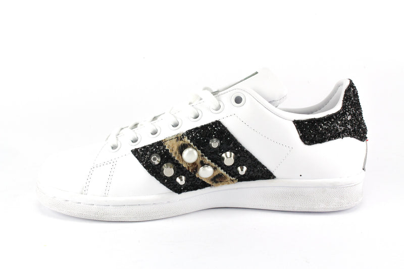 Adidas Stan Smith Cavallino Maculato Black Glitter & Borchie