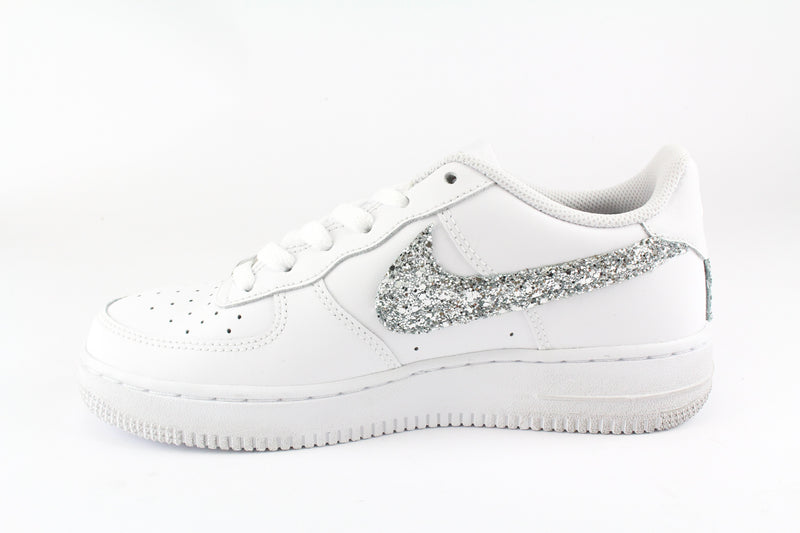 nike air force 1 donna bianche e argento
