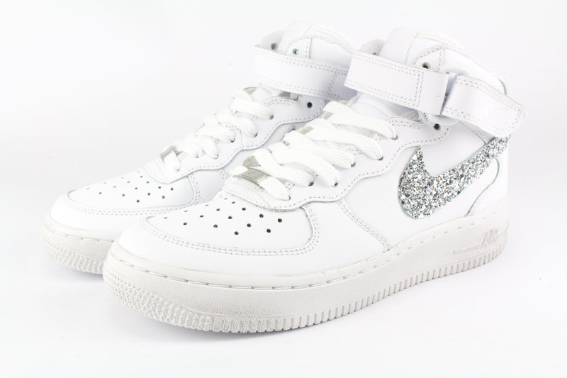 Nike Air Force 1 '07 Mid Silver Glitter