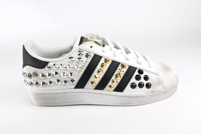 Adidas Superstar Total Borchie Gold/ Black/ Silver