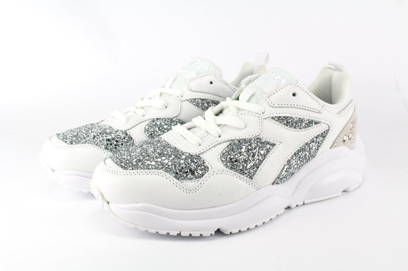 Diadora Whizz Run Silver Glitter & Strass