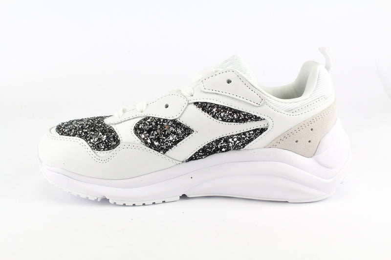 Diadora Whizz Run Black Silver Glitter & Strass