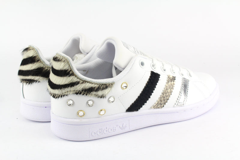 Adidas Stan Smith Zebrate Pitone & Borchie