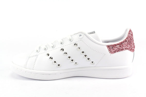 Adidas Stan Smith Pink Glitter & Borchie