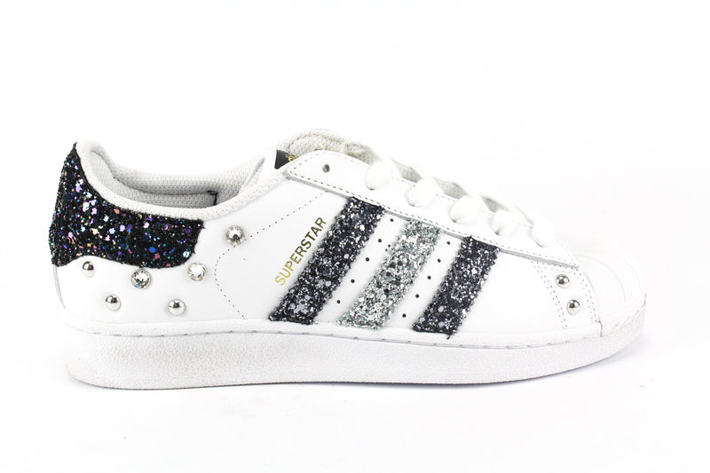 Adidas Superstar Black Iris Glitter & Strass