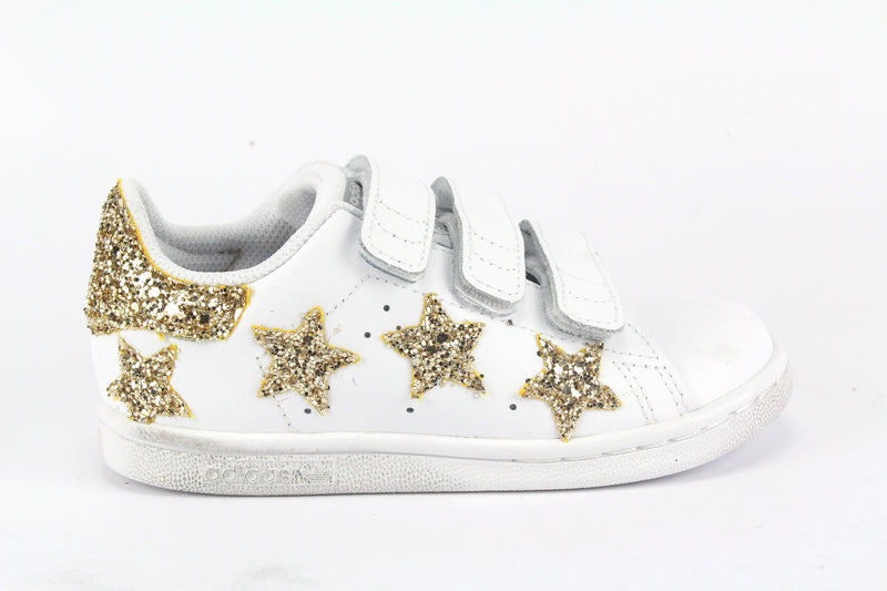 Adidas Stan Smith Stelle Gold Glitter