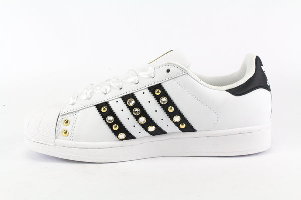 Adidas Superstar Gold Strass & Lacci Raso