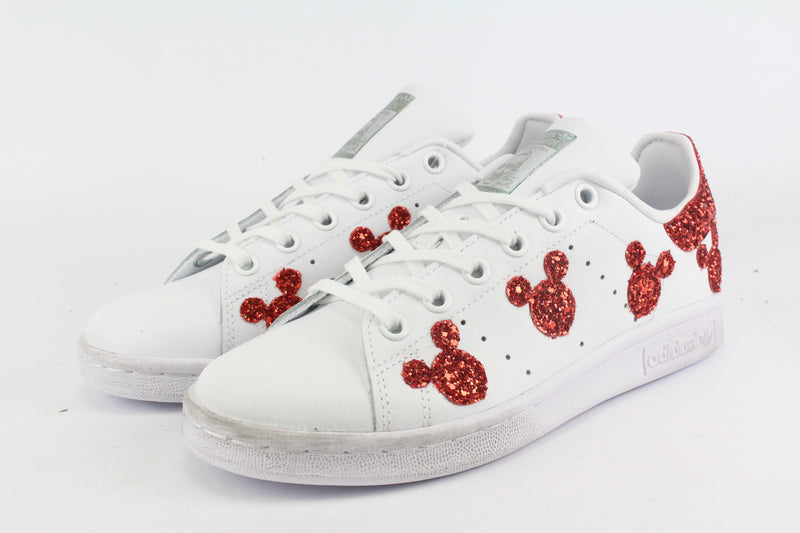 Adidas Stan Smith Topolini Red Glitter