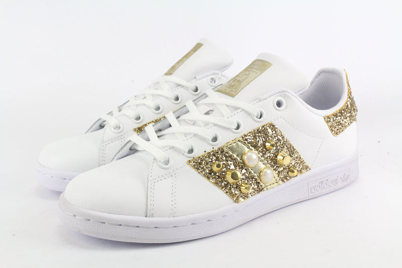 Adidas Stan Smith Bande Gold Glitter & Borchie