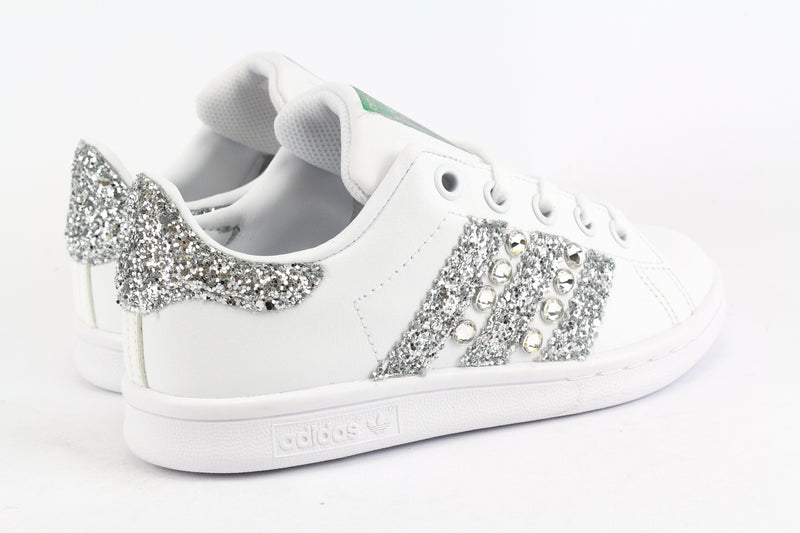 Adidas Stan Smith Silver Glitter & Strass