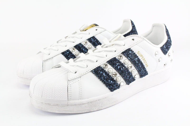 Adidas Superstar Navy Glitter & Strass